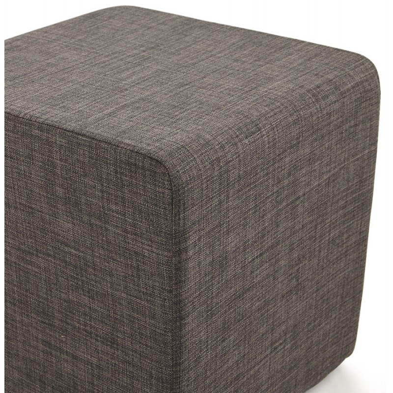 pouf carr fusil en tissu gris fonc. Black Bedroom Furniture Sets. Home Design Ideas