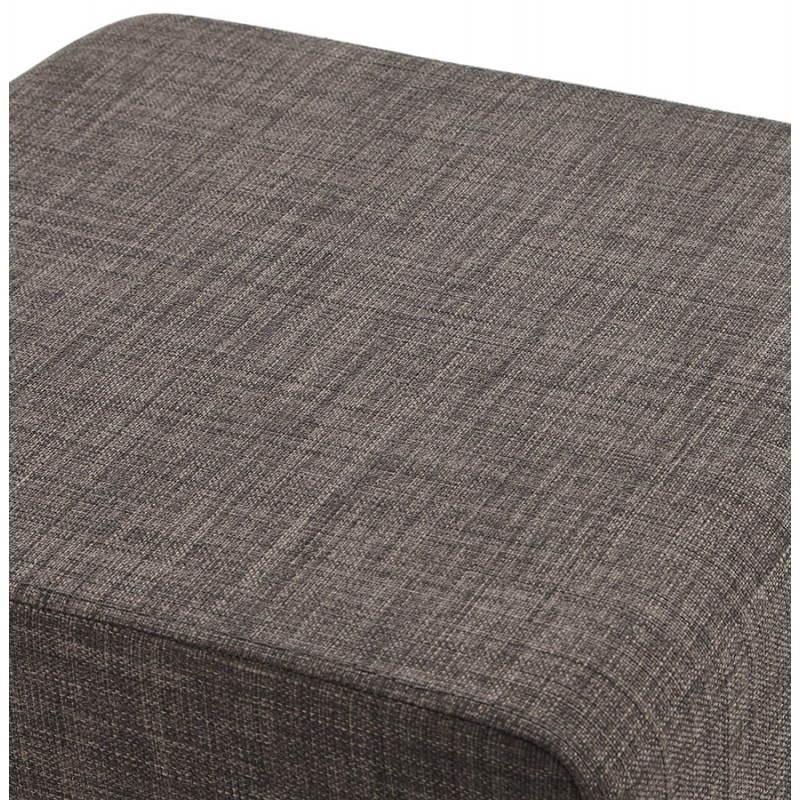 Pouf carré FUSIL en tissu (gris foncé) - image 23356
