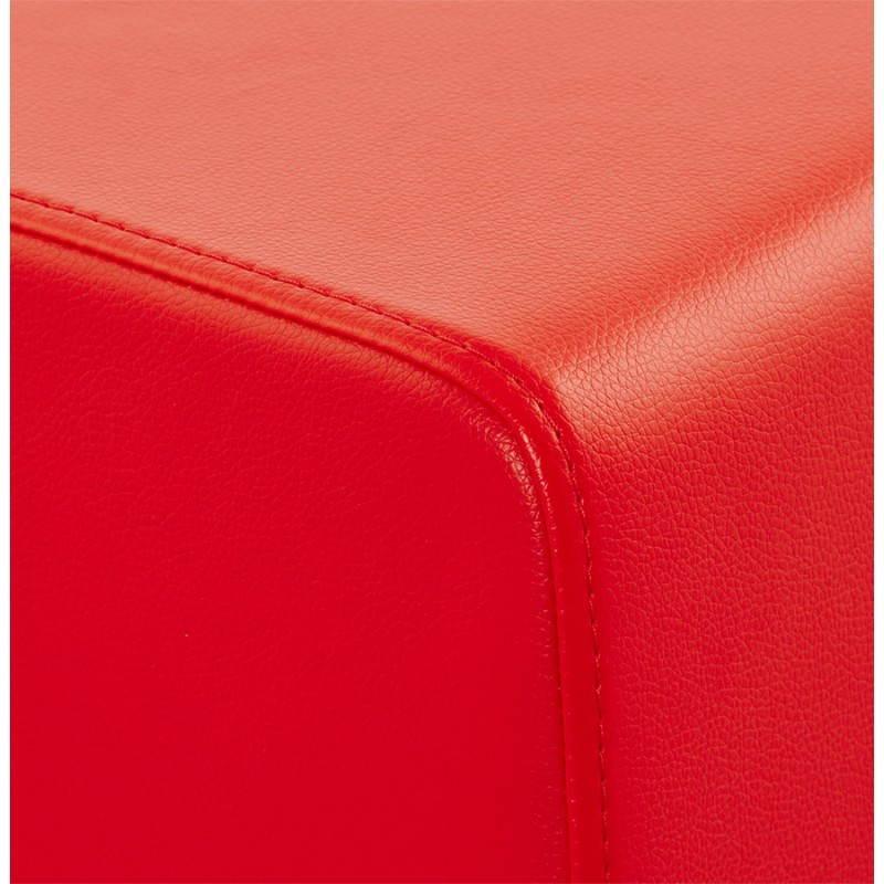 Pouf carré PORTICI en polyuréthane (rouge) - image 23365
