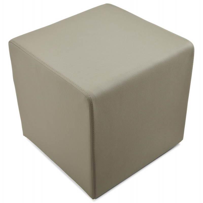 Pouf carré PORTICI en polyuréthane (gris) - image 23384