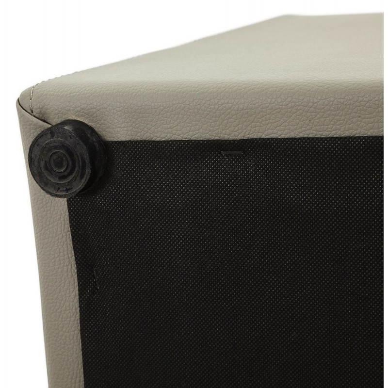 Pouf carré PORTICI en polyuréthane (gris) - image 23388