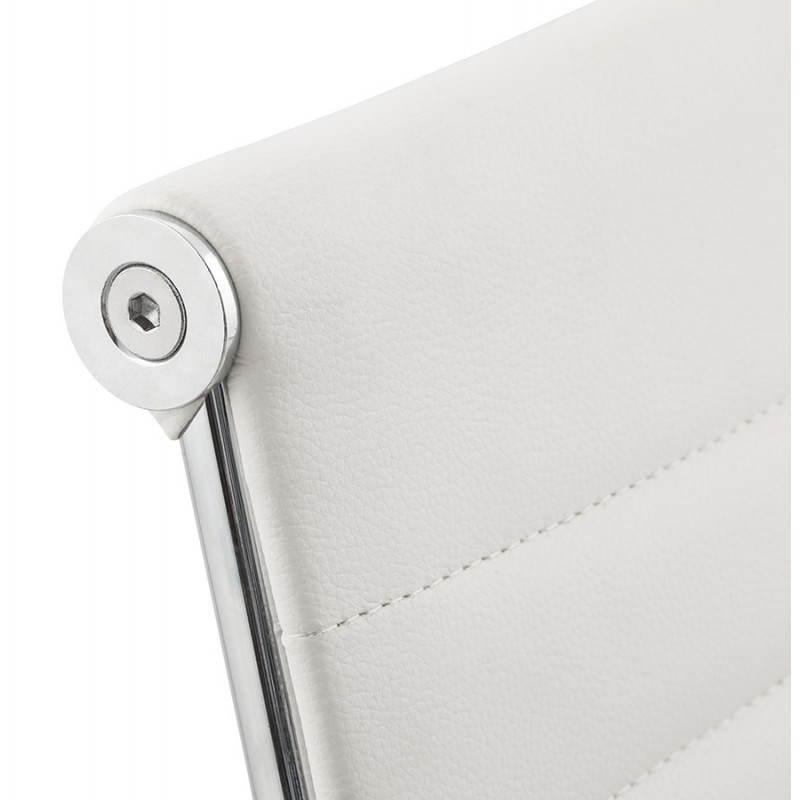 Fauteuil de bureau rotatif AMEN en polyuréthane (blanc) - image 23406