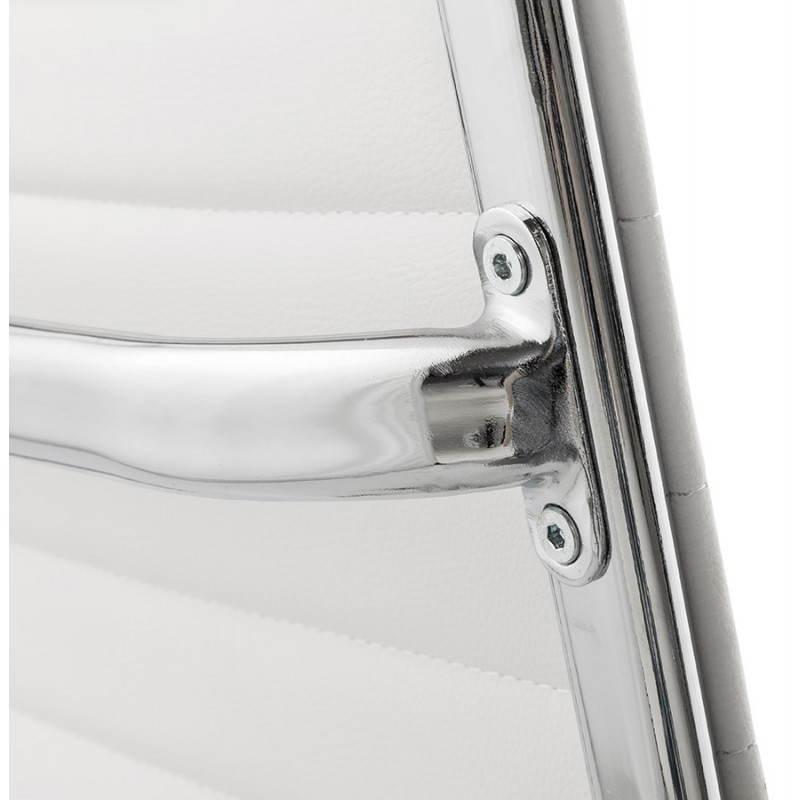Fauteuil de bureau rotatif AMEN en polyuréthane (blanc) - image 23410