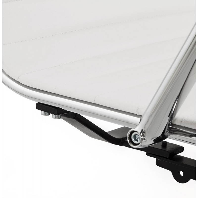 Fauteuil de bureau rotatif AMEN en polyuréthane (blanc) - image 23414