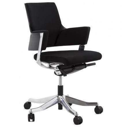 Fábrica de ladrillo (negro) de silla de oficina ergonómica