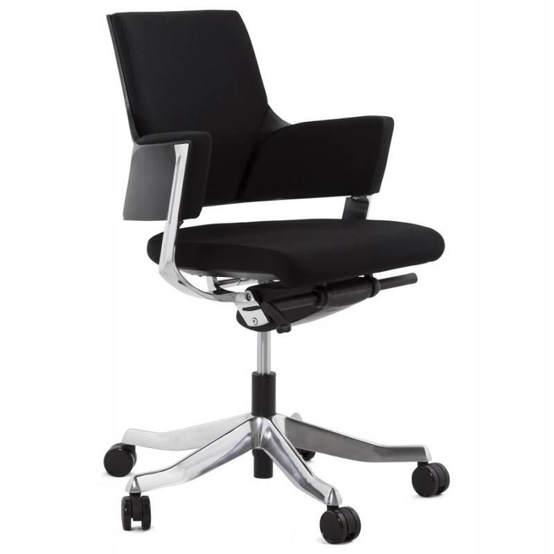 Fauteuil de bureau ergonomique BRIQUE en tissu (noir) - image 23530