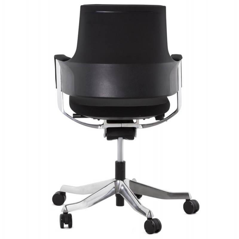 fauteuil de bureau ergonomique brique en tissu noir. Black Bedroom Furniture Sets. Home Design Ideas