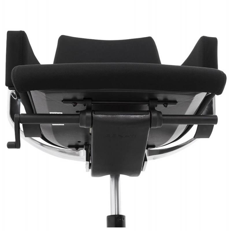 Fauteuil de bureau ergonomique BRIQUE en tissu (noir) - image 23541