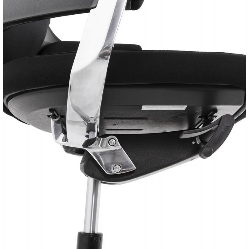 Fauteuil de bureau ergonomique BRIQUE en tissu (noir) - image 23542