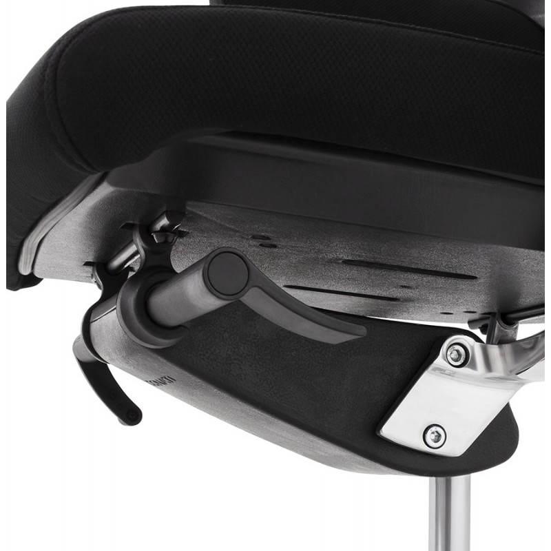 Fauteuil de bureau ergonomique BRIQUE en tissu (noir) - image 23543