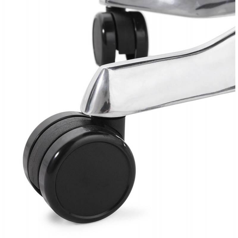 Fauteuil de bureau ergonomique BRIQUE en tissu (noir) - image 23546