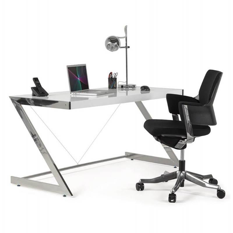 Fauteuil de bureau ergonomique BRIQUE en tissu (noir) - image 23547