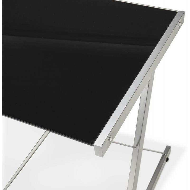 Bureau d'angle design ROVIGO en verre trempé et métal (noir) - image 23577