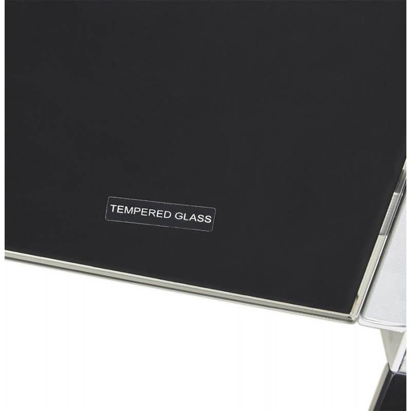 Bureau d'angle design ROVIGO en verre trempé et métal (noir) - image 23580