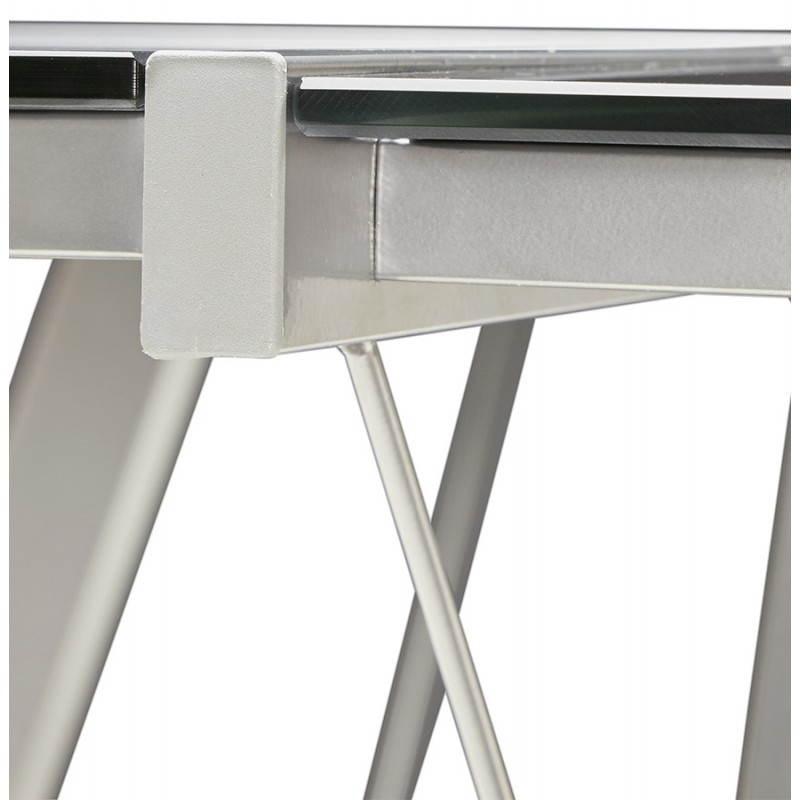 Bureau d'angle design ROVIGO en verre trempé et métal (noir) - image 23581