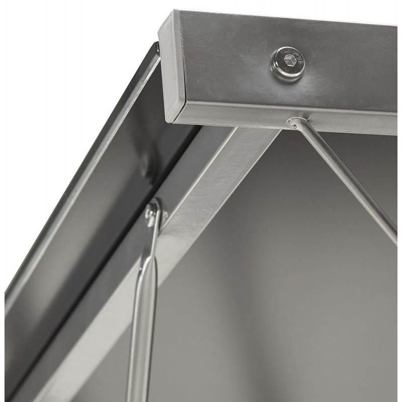 Bureau d'angle design ROVIGO en verre trempé et métal (noir) - image 23582