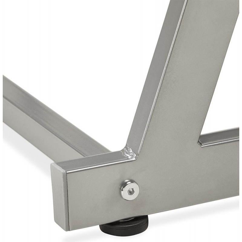 Bureau d 39 angle design rovigo en verre tremp et m tal noir - Bureau design verre metal ...