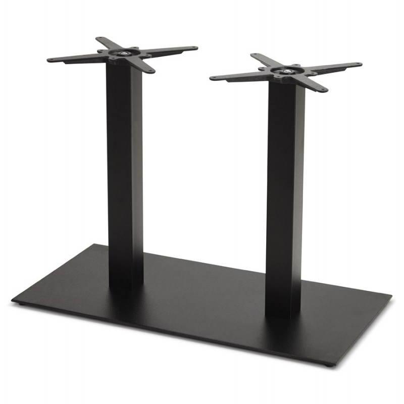 Doppelter Tischfuß RAMBOU aus lackierter Metall (50cmX100cmX73cm) (schwarz)