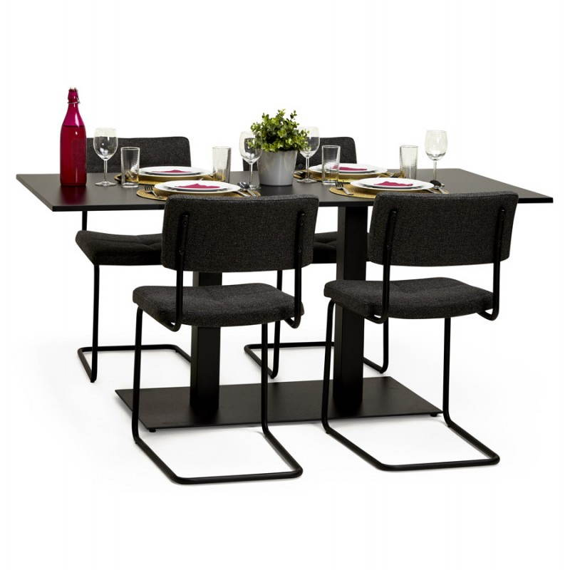 Doppelter Tischfuß RAMBOU aus lackierter Metall (50cmX100cmX73cm) (schwarz) - image 23616