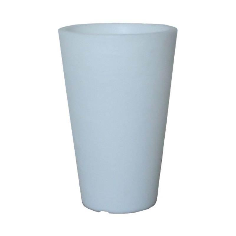 Pot ou vase lumineux intérieur extérieur BALSANE (blanc, H 45 cm) - image 23965