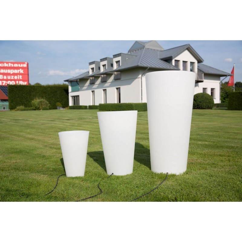 Pot ou vase lumineux intérieur extérieur BALSANE (blanc, H 63 cm) - image 24006