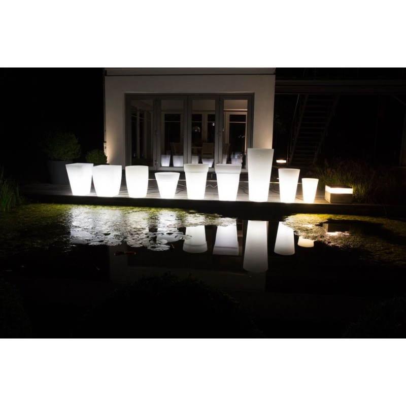 Pot ou vase lumineux intérieur extérieur BALSANE (blanc, H 63 cm) - image 24008