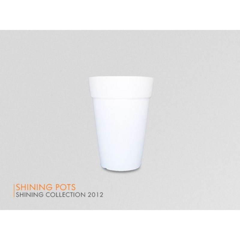 Pot ou vase lumineux intérieur extérieur BALSANE (blanc, H 68 cm) - image 24022