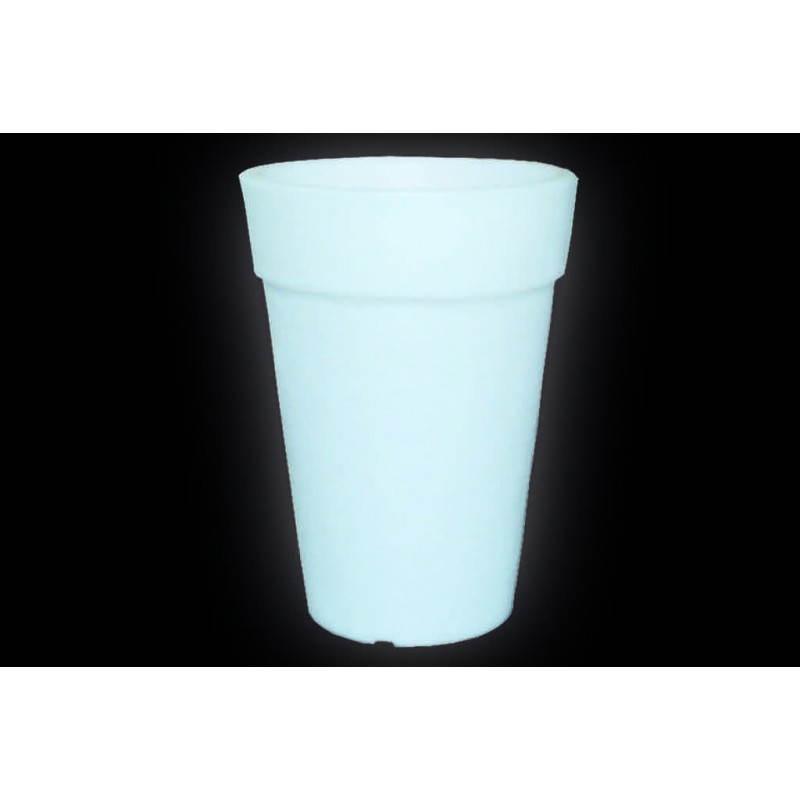 Pot ou vase lumineux intérieur extérieur BALSANE (blanc, H 68 cm) - image 24023