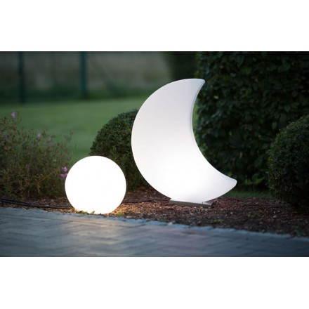Lune lumineuse intérieur extérieur MOON (blanc H 60 cm)