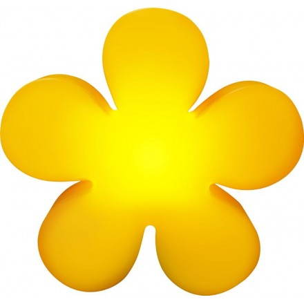 Fleur lumineuse intérieur extérieur TREFLE (jaune Ø 60 cm)