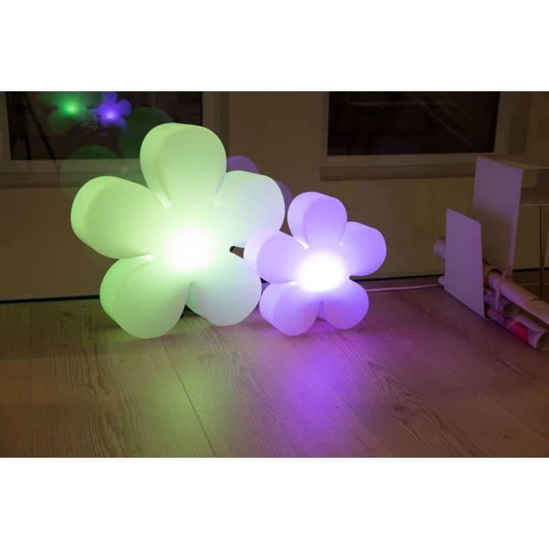 Fleur lumineuse intérieur extérieur TREFLE (vert Ø 60 cm) - image 24273