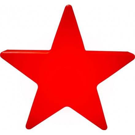 Stella esterno luminoso all'interno di DANA (rosso Ø 40 cm)