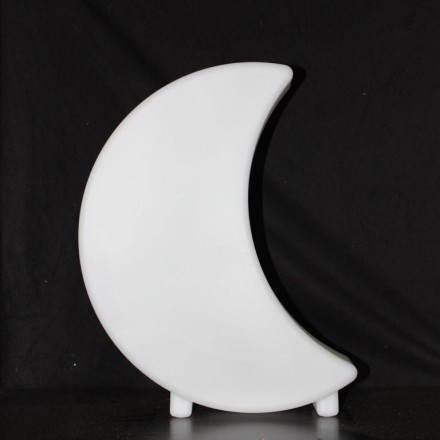 Lune lumineuse MOON intérieur extérieur (blanc, H 41 cm)