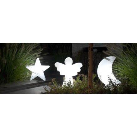Figurine lumineuse ANGE intérieur extérieur (blanc, LED multicolore, H 40 cm)
