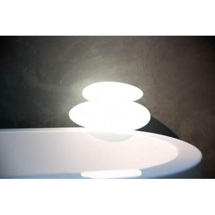 Lampe lumineuse GALET intérieur extérieur (blanc)