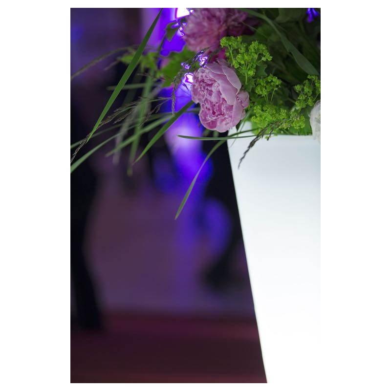 Pot ou vase lumineux rectangulaire KIWI intérieur extérieur (blanc, H 60 cm) - image 24518