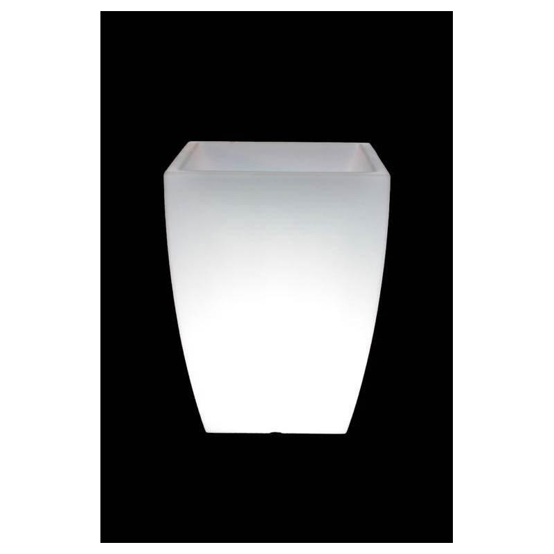 Pot ou vase lumineux rectangulaire KIWI intérieur extérieur (blanc, H 60 cm) - image 24523