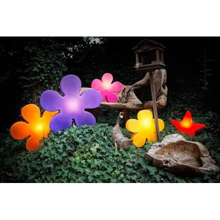 Fleur lumineuse TREFLE intérieur extérieur (violet Ø 40 cm)