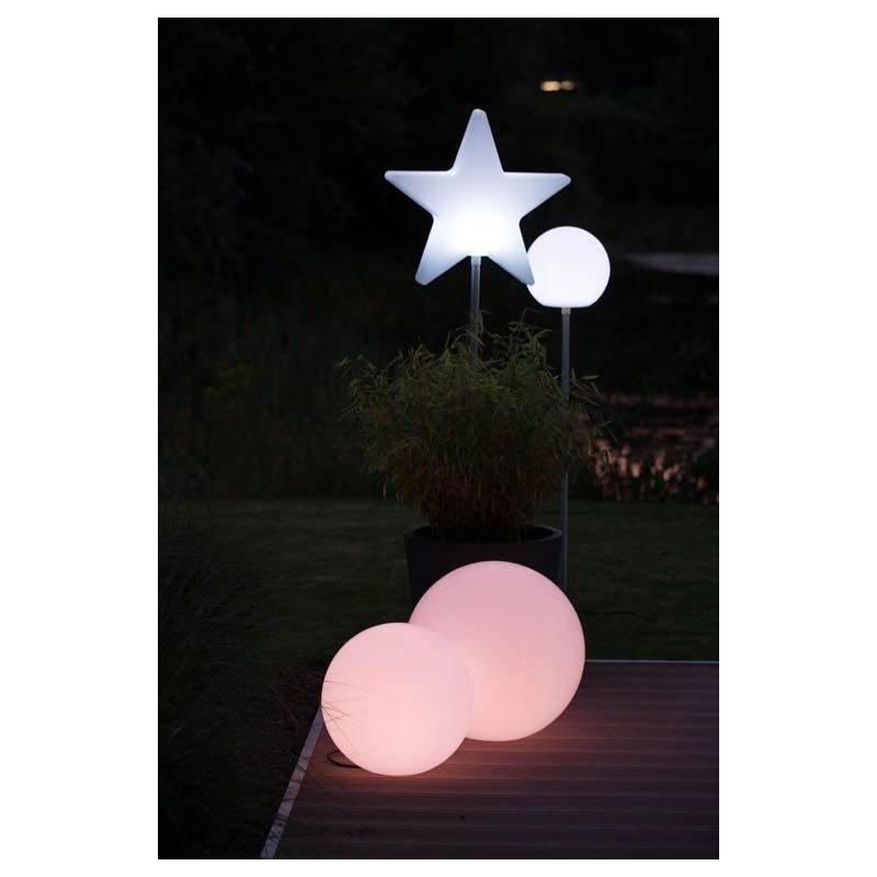 Lampe lumineuse GLOBE intérieur extérieur (blanc, LED multicolore, Ø 30 cm) - image 24646