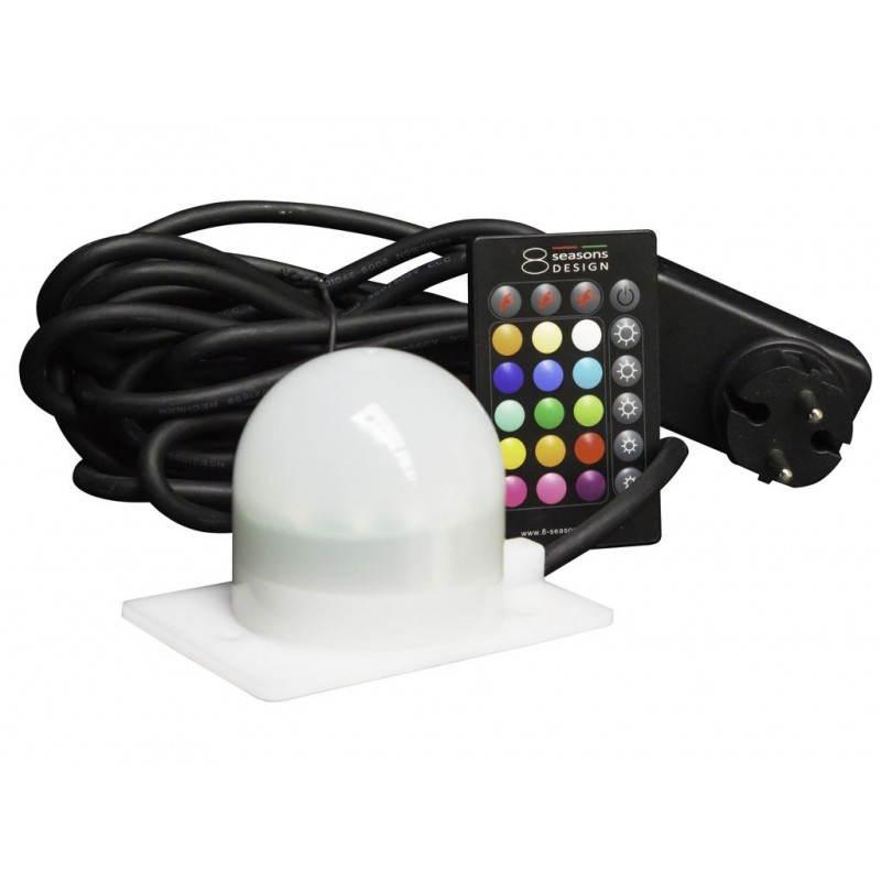 Lampe lumineuse GLOBE intérieur extérieur (blanc, LED multicolore, Ø 30 cm) - image 24648