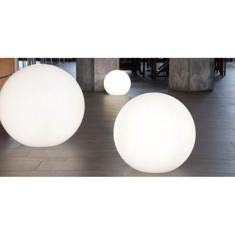 Lamp light outdoor indoor globe white multicolor led for Lampe led exterieur jardin