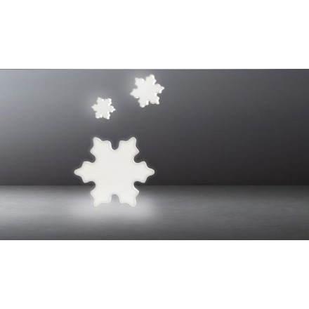 Flocon lumineux NEIGE intérieur extérieur (blanc)