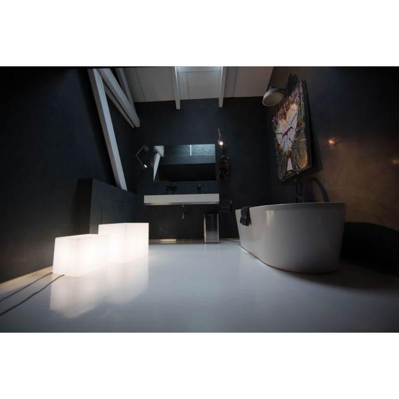 Table basse lumineuse CUBE intérieur extérieur (blanc, LED multicolore, H 43 cm) - image 24751