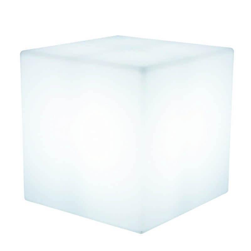 Table basse lumineuse CUBE intérieur extérieur (blanc, LED multicolore, H 43 cm) - image 24755