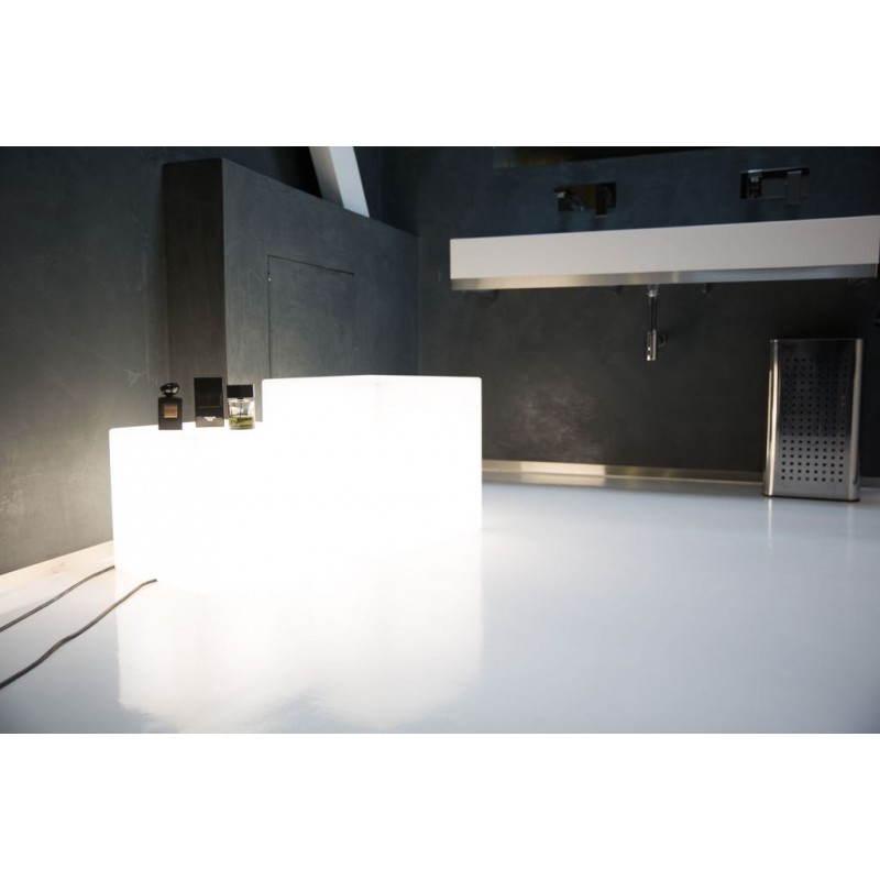 Table basse lumineuse CUBE intérieur extérieur (blanc, H 43 cm) - image 24762