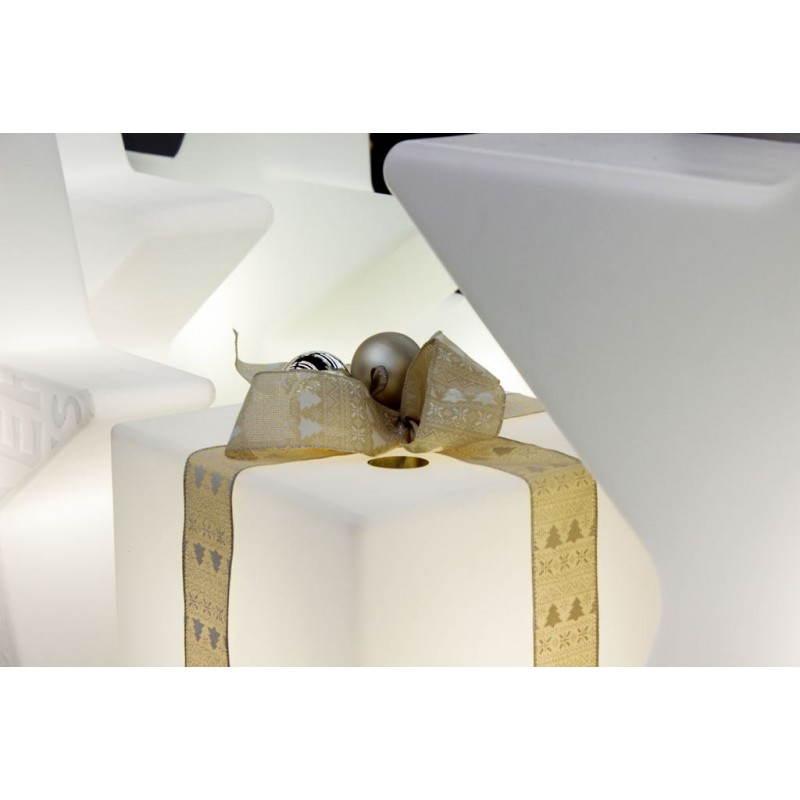 Table basse lumineuse CUBE intérieur extérieur (blanc, LED multicolore, H 33 cm) - image 24771