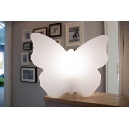 Figurine lumineuse PAPILLON intérieur extérieur (blanc)