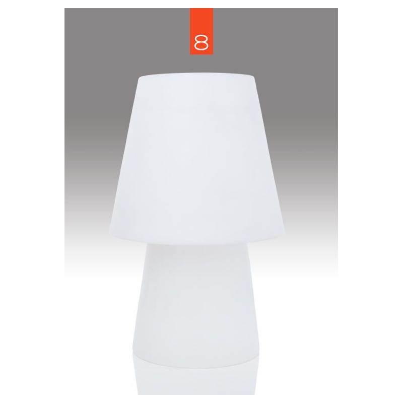 Lampe de table lumineuse MIMA intérieur extérieur (blanc, LED multicolore, H 60 cm) - image 24848