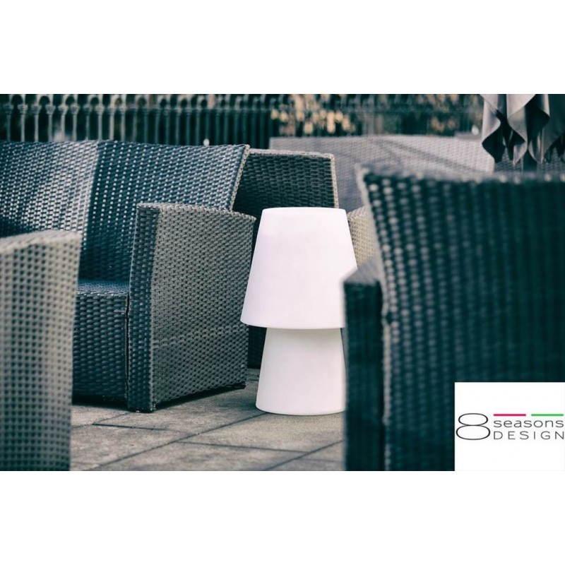 Lampe de table lumineuse MIMA intérieur extérieur (blanc, LED multicolore, H 60 cm) - image 24850