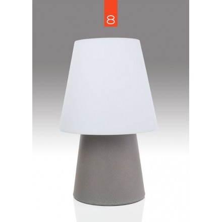 Lampe de table lumineuse MIMA intérieur extérieur (taupe, H 60 cm)